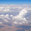 写真: カタール航空129便の窓から ドーハ~ベネチア間 アラビア半島上空