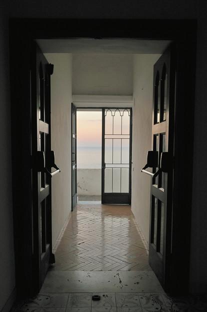 ルナコンベントホテルから見た朝焼け