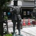 「平戸歴史の道」に建つイギリス人・ウィリアム=アダムス(三浦按針)像...