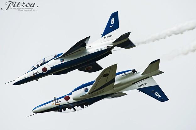 Blue Impulse T-4 Back to Back 曲芸飛行