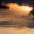 波間の夕焼け