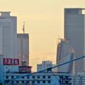 写真: 御陵橋(堀川)の上から見た、夕暮れ時の名駅ビル群 - 5
