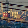 写真: 桃花台(小牧市)から見た「イオン春日井店」と「名港中央大橋」