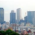 写真: 名古屋城天守閣:最上階から見た名駅ビル群 - 3