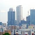 写真: 名古屋城天守閣:最上階から見た名駅ビル群 - 4