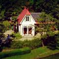 写真: 愛・地球博記念公園:「サツキとメイの家」 No - 32(展望塔から見下ろした建物、ミニチュアライズ)
