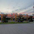 写真: 愛知芸術文化センターから見た、イルミネーション点灯直後のオアシス21 - 1