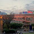 写真: 愛知芸術文化センターから見た、イルミネーション点灯直後のオアシス21 - 2