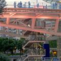 写真: 愛知芸術文化センターから見た、イルミネーション点灯直後のオアシス21 - 3