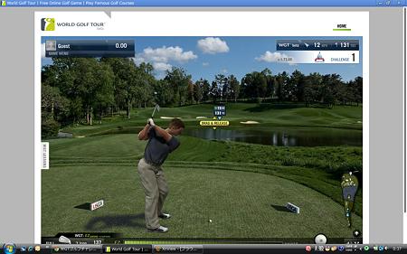 Chromeアプリ:WGTゴルフチャレンジ(スイング)