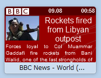 Operaスピードダイヤルエクステンション:BBC News Speeddial Ticker(拡大)