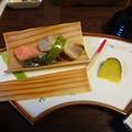 Photos: 杉板焼き、薩摩芋レモン煮