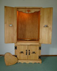 カントリー仏壇スライドテーブル1