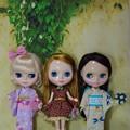 お祭り帰りの3人娘