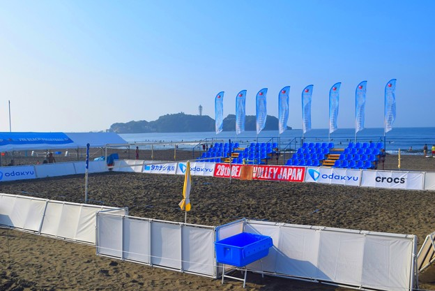 29th Beach Volley Japan センターコート #湘南 #藤沢 #海 #波 #surfing #wave #mysky #beach #Beach Volley #ビーチバレー