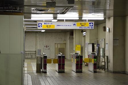 誰も居ない改札@東成田駅[7/30]