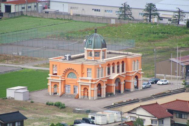 クロスランドタワーから見下ろす公民館