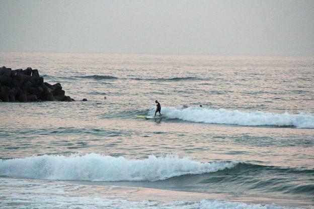 夕暮れサーフィン (2)