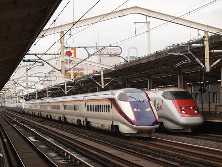 E3系つばさ East-i追い越し 東北新幹線小山駅
