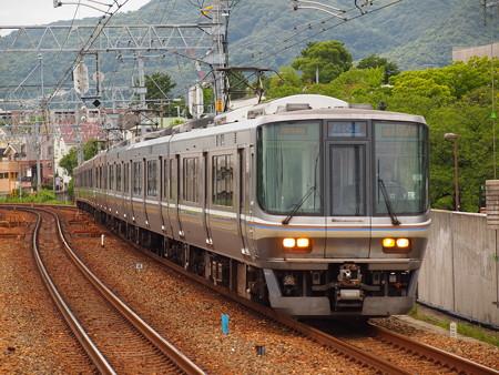 223系新快速 東海道本線さくら夙川駅03