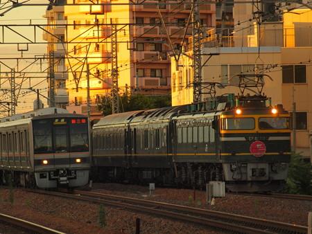 EF81 寝台特急トワイライトエクスプレス 東海道本線吹田~東淀川