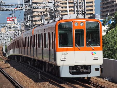 阪神8000系急行    阪神本線大物駅01
