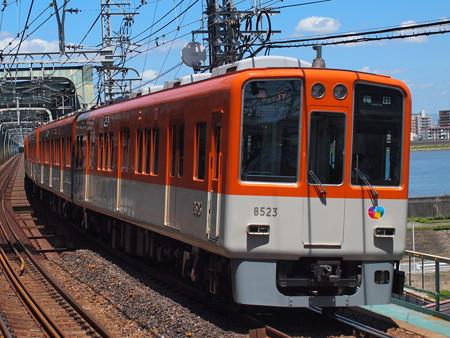 阪神8000系急行    阪神本線淀川駅02