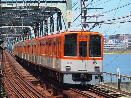 阪神8000系急行    阪神本線淀川駅04