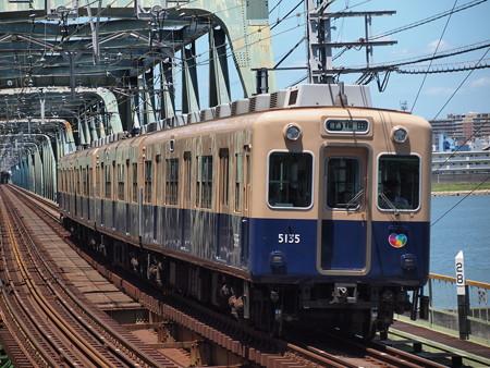 阪神5131形普通 阪神本線淀川駅