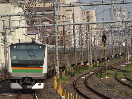 E233系普通 東北本線尾久駅