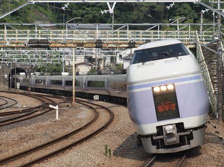 E351系特急スーパーあずさ 中央本線相模湖駅