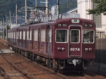 阪急3000系普通 阪急箕面線牧落駅01