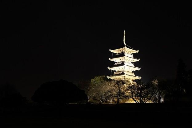 備中国分寺 五重塔 ライトアップ