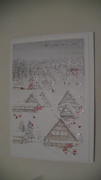 クリスマスカード traditional house