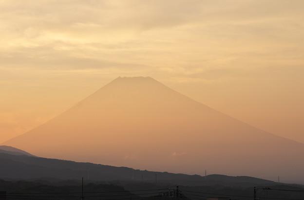日没時の富士山