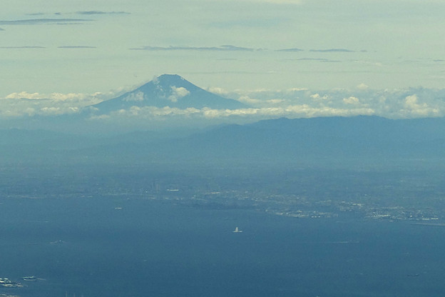 東京湾上空