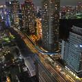 新橋方面(夜)