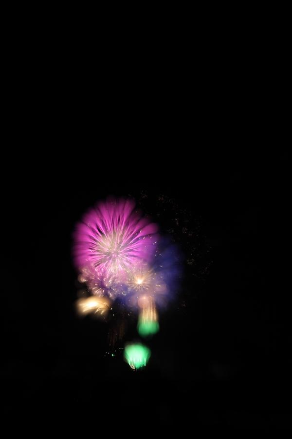 かがり火祭り 花火