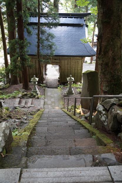 仁王門と石段
