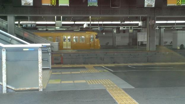 岡山駅ホーム内の電車