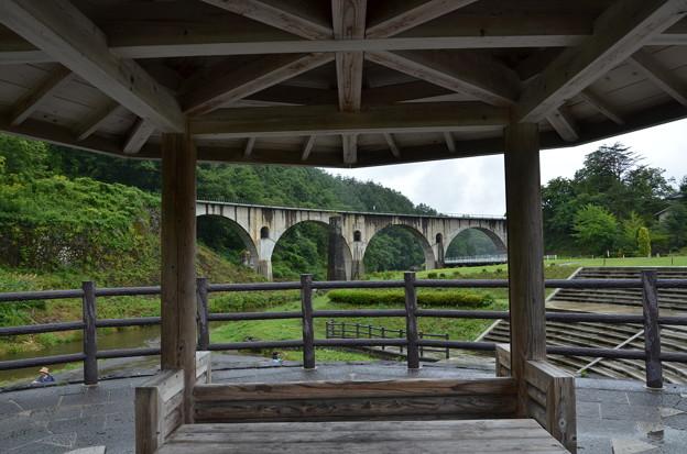 東屋から眼鏡橋