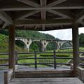 Photos: 東屋から眼鏡橋