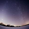 銀河と黄道光の饗宴