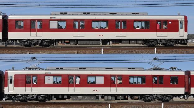 近鉄1430系1433F(VW33)山側側面 2011.02.19