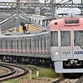 サーモンピンクの電車