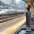 新幹線と小便小僧
