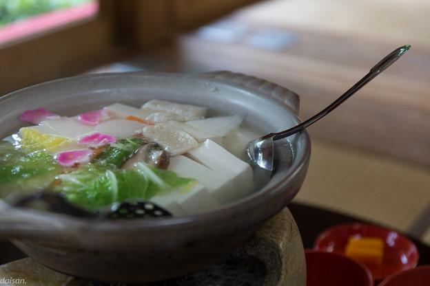 龍安寺 西源院の湯豆腐