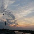 Photos: 放射状形地震雲
