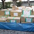 写真: 元に戻った支援物資