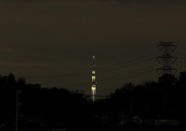 ライトアップされた東京スカイツリー